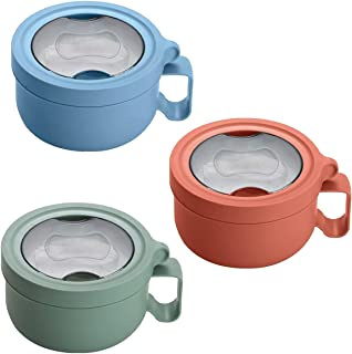 Lonchera Portavianda Termica Interior Acero Inoxidable Contenedor Para Comida Lunch Box Caja de Almuerzo Libre BPA 850ml C...
