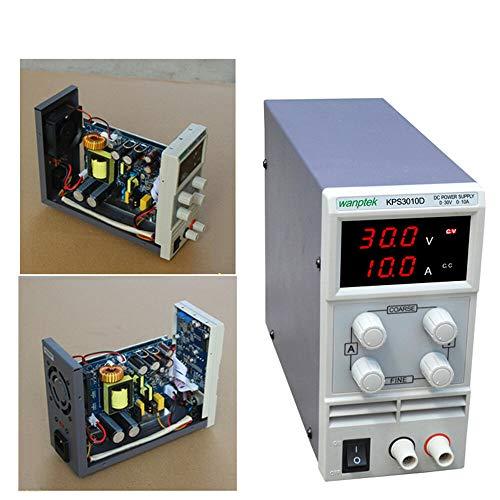 Berkalash Labornetzgerät, 30V 10A DC Regelbar Labornetzgerät, Doppelte LED-Anzeige, Netzgerät Stabilisiert Digitalanzeige Laborne