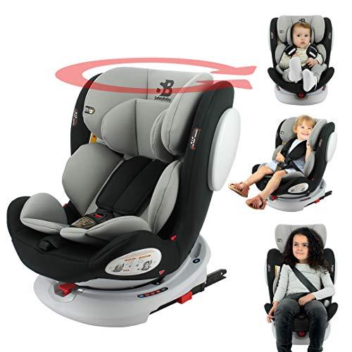 Seggiolino auto isofix SEATY 360° gruppo 0+/1/2/3 (0-36kg), evolutivo e di grande comfort - Safety Baby