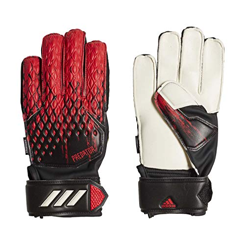 adidas Kinder Predator MTC Fingersave Torwarthandschuhe, Black/Active Red, 4