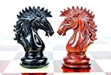 House of Chess - Ebony / Bud Rose Wood Encore Staunton Wooden Chess Set Pieces 4.5' - Wooden Box