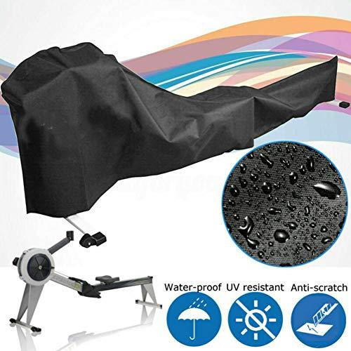 PIONIN Rudergerät Schutzhülle, wasserdichte UV-Schutzabdeckung, Schutzabdeckung Für Fitnessgeräte Und Wasserdichtes Oxford-Material, (Schwarz) 112