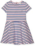 Tommy Hilfiger Essential Stripe Skater Dress Vestido, Rosa (Almond Blossom 634), 98 (Talla del Fabricante: 3) para Niñas
