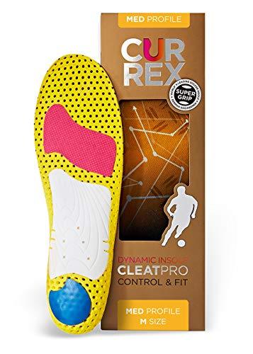 CURREX CleatPro Sohle Med Profile. Deine neue Dimension des Fußballs. Performance Einlegesohle für Fußball- oder Stollen-Schuhe. Gr EU 42-44 (L)