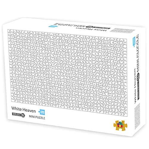 Fresion Puzzle 1000 Teile für Erwachsene - Reine weiße Hölle Puzzle, Mini Jigsaw Puzzle, Klassische Puzzles für Kinder Mädchen, Cardboardpuzzle Spielzeug, Puzzle Lernspielzeug