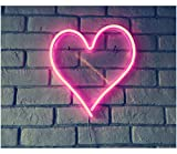 "Britrio LED Neon Light Sign, 13.4""x12.6"" Heart Shape Neon Sign Wall Hanging Sign Wall Art for Bar Bedroom Living Room Kid's Room Party,Home Decor Neon Night Light USB Powered(Pink Heart)"