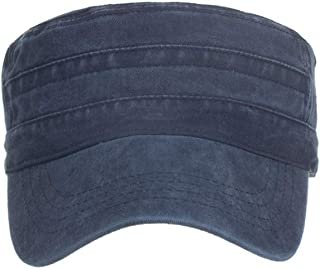 DDKK hat Twill Cotton Peaked Baseball Cap Cadet Army Cap Military Corps Hat Cap Visor Flat Top Adjustable Baseball Hat