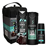AXE Apollo Gift Set With Body Wash, 2-in-1 Shampoo + Conditioner, With A Bonus Gift Of A Shower Speaker for Holiday 5 count