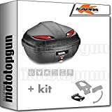 kappa top case k47n manta 47 lt + support monolock compatible avec piaggio mp3 350 500 business 2020 20