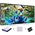 "Solar Power 120"" 16:9 HD Foldable Projection Screen"