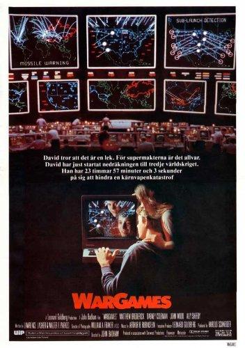 Pop Culture Graphics War Games Poster Movie Swedish 11x17 Matthew Broderick Dabney Coleman John Wood Ally Sheedy