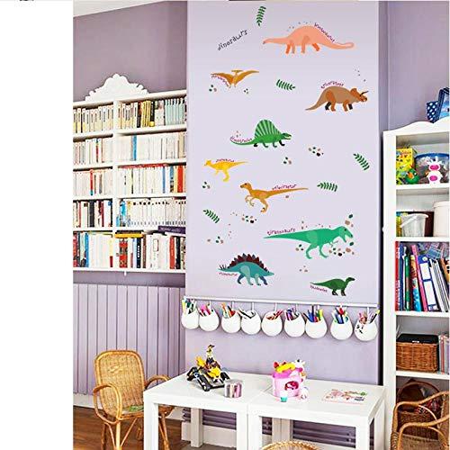 KBIASD Cartoon Jurassic Park Dinosaurs Wall Sticker for Kids Room Decoration Bedroom Wall Art Decor Removable Vinyl Wallpaper Stickers 67x58cm