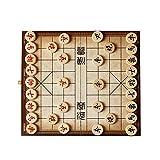 JCCOZ-URG Doblan al Tablero de ajedrez Chino Premium Set Estudiante Adulto Niño Grande Conjunto (Madera, de 3,8 cm de diámetro) URG