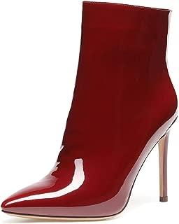 Women/'s Casual en daim synthétique Frange Pompons Talon Plat Bottes Mi-Mollet Slouch Chaussures