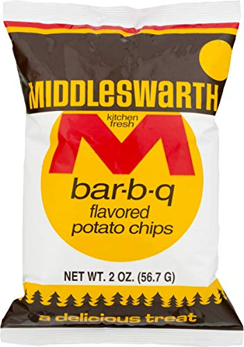 Middleswarth Kitchen Fresh Potato Chips-Pack of 12/2 oz. Bags (BBQ)