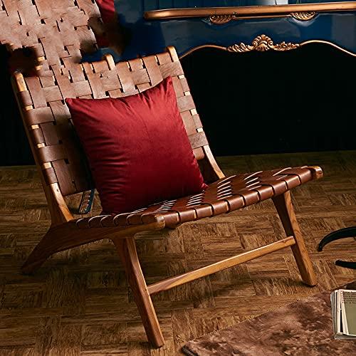 KLily Quadratischer Dekorativer Kissenbezug Im Nordischen Stil Einfarbiger Flanell-Bürositzkissenbezug Home Sofa Kissenbezug