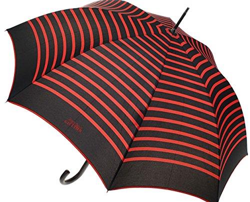 Paraplu, paraplu dames, van Lilienfeld, Marius, maritiem, zwart-rood, gestreept, Jean Paul Gaultier,