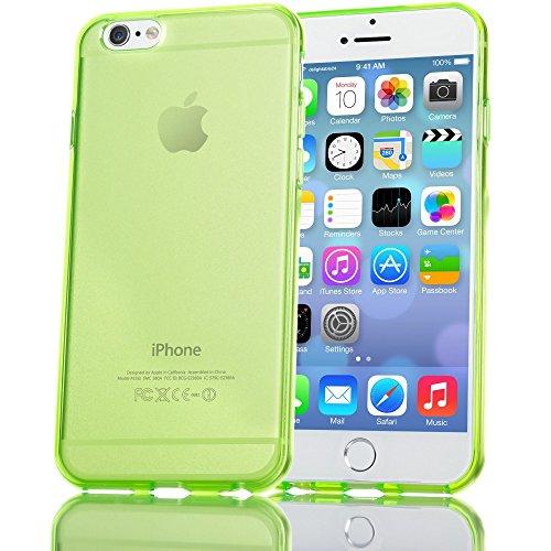 NALIA Custodia compatibile con iPhone 6 6S, Cover Protezione Ultra-Slim Case Protettiva Trasparente Morbido Cellulare in Silicone Gel, Gomma Clear Telefono Bumper Sottile - Verde
