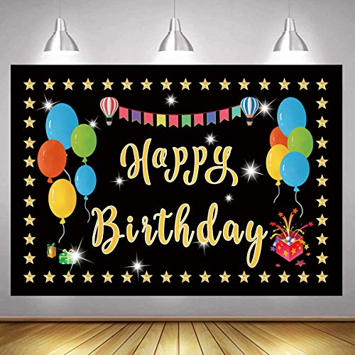 Happy Birthday Banner Backdrop Happy Birthday Banner Poster Birthday Party Decorations for Boys and Girls