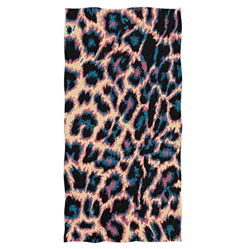 ETWJ Trendy Leopard Print Hand Towels Leopard Snakeskin Zebra Pattern Bathroom Towel Ultra Soft Highly Absorbent Multipurpose Thin Towels for Hand Face Home Decor, 27.5'x15.7'