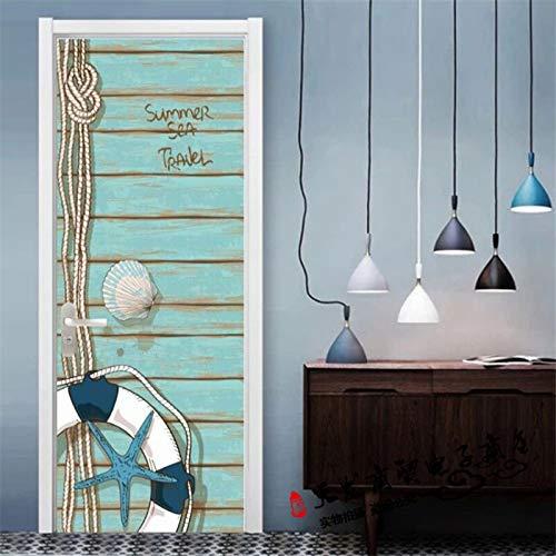 3D Tür Wand Aufkleber Rettungsring Kreativ 30.3X78.7 Inch Abnehmbare Tür Aufkleber Photo Tapete, Selbstklebendes Wandgemälde Für Schlafzimmer-Haupttür Büro Wand Aufkleber Dekoration