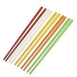 SODIAL(R) 5 Pares Palillos chinos de plastico de colores surtidos 8,7 ' Largo