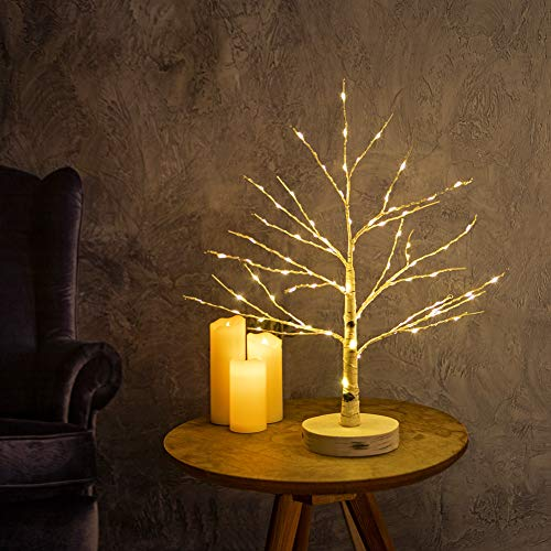 Artificial Decorative Centerpiece | 24 Warm White LED Star USB Operated| Tabletop Decoration Light Tree | Christmas Easter Holiday Party Indoor Decor 18 Inches… (Star Lighted Tree)