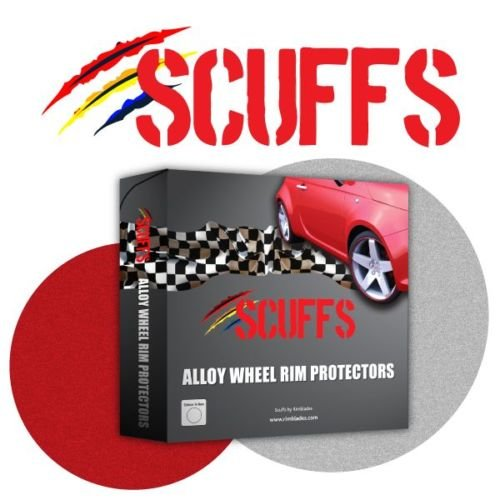 Scuffs by Rimblades FELGENSCHUTZ & STYLING Felgenschutzring Alu Felgen Ringe Felgenstyling Rim Protector Guard Ringz (rot)