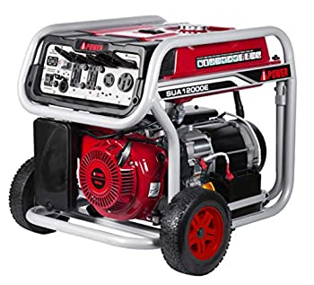 A-iPower SUA12000E 12000 Watt Portable Generator Heavy Duty Gas Powered with Electric Start for Jobsite RV and Whole House Backup Emergency