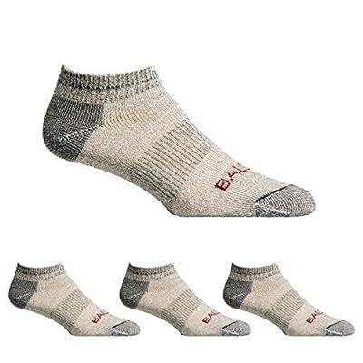 Ballston Unisex All Season 81% Merino Wool Low Cut Hiking Socks - 4 Pairs (Lunar Gray, L (Fits Men's Shoe 9-12, Women's 10-12))