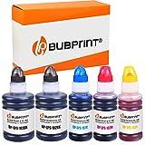 Bubprint Kompatibel Tintentank kompatibel 102 Tinte als Ersatz für Epson Ecotank ET-2700 ET-2750 ET-2751 ET-2756 ET-3700 ET-3750 ET-4750 ET-15000 WorkForce ST-2000 ST-3000 ST-4000 5er-Pack