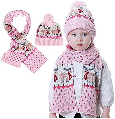 Sombreros de Punto para niños, Gorros de Lana para bebés, Bufandas, Sombreros de Punto para niñas Europeas y Americanas, otoño e Invierno nuevos