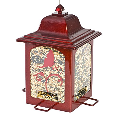 Perky-Pet 363R Red Sparkle Lantern Bird Feeder