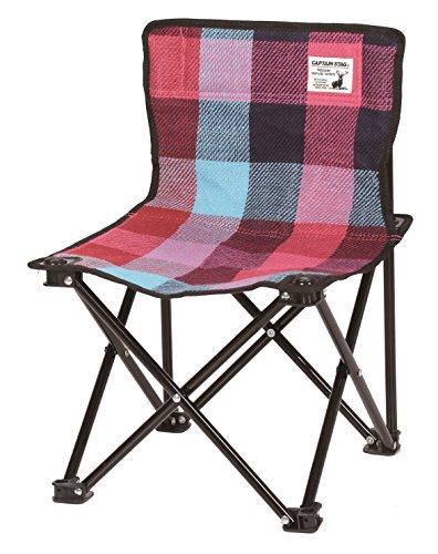 キャプテンスタッグ(CAPTAIN STAG) キャンプ用品 椅子 起毛 コンパクト チェア ブルー/ピンクUC-1630