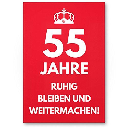 Bedankt! 55 jaar, rustig blijven - cadeau 55. Verjaardag, cadeau-idee verjaardagscadeau vijfenmiste, verjaardagsdeco/partydecoratie/feestaccessoires/verjaardagskaart