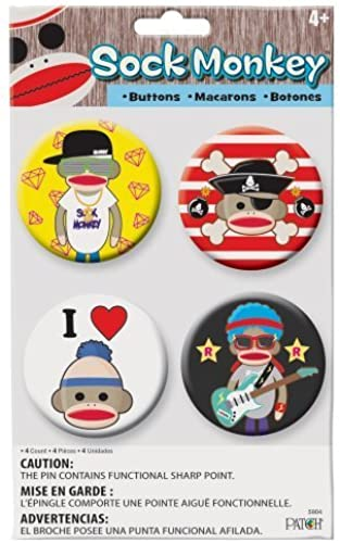 Patch Products Sock Monkey Buttons by Patch Products (English Manual)