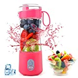 Portable Personal Mini Smoothie Blender - USB Rechargeable Single Serve Small Size Travel Fruit Juicer Mixer Cup Battery Operated Individual Portable Blender for Milk Juice Smoothies and Shakes