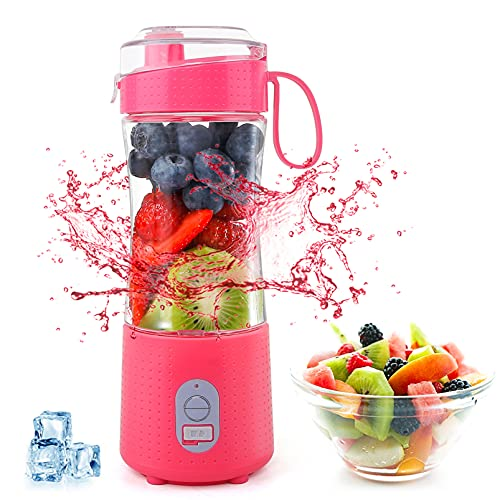 Portable Personal Mini Smoothie Blender - USB Rechargeable...
