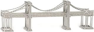 Steel Wire Model Brooklyn Bridge Authentic Architecture Replica Statue, Card Holder and Award