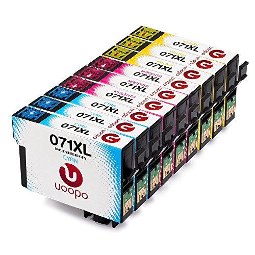 Uoopo T071 (3 Ciano,3 Magenta,3 Giallo) Compatibile Cartucce Epson T0712 T0713 T0714 per Epson Stylus SX215 DX7450 D78 D92 D120 S20 S21 SX100 SX110 SX105 SX115 SX205 BX600FW SX218 SX515W SX400 SX200