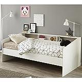 Funktionsbett Sleep Parisot 90 * 200 cm weiß mit Regalwand Jugendzimmer Kinderzimmer Gästezimmer Bett Kinderbett Jugendbett Bettliege - 2