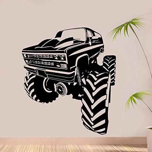Gran montaña Buggy Racing Car Etiqueta de la pared Decoración para el hogar Habitación de los niños Adolescentes Dormitorio Interior Arte Calcomanías Mural extraíble Otro color 42x48cm