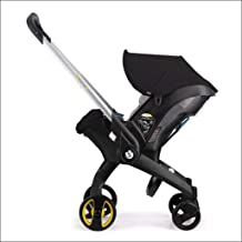 Baby Trolley 4 in 1 Car Seat Stroller Newborn Baby Carriage Baby Bassinet Portable Travel System Stroller with Car Seat Baby Comfort Baby Carriage (Color : Black)