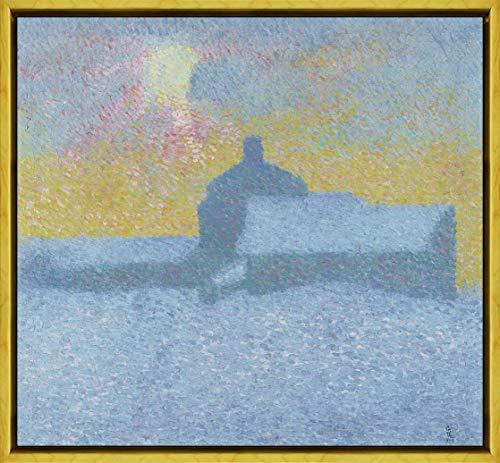 Berkin Arts Alberto Giacometti Framed Giclee Print On Canvas-Famous Paintings Fine Art Poster-Reproduction Wall Decor(Winter in Maloja) #XLK