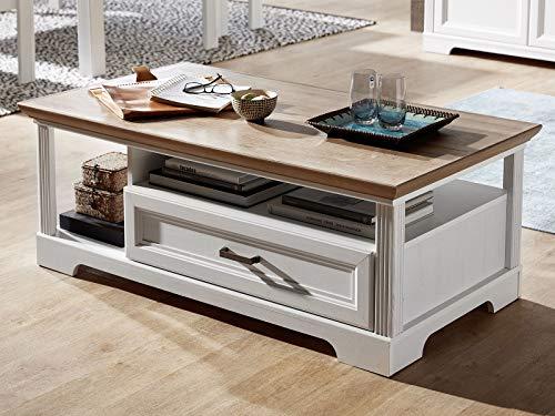 Couchtisch Wohnzimmertisch Beistelltisch Sofatisch Kaffeetisch Tisch Jillana I Pinie hell/Artisan Eiche