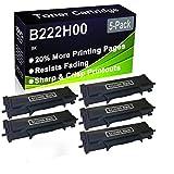 Paquete de 5 cartuchos de impresora compatibles con Lexmark B222H00 de alto rendimiento para impresoras Lexmark B2236DW, MB2236ADW, MB2236ADWE