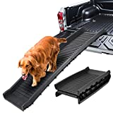 LEMY 61 Inch Foldable Pet Dog Ramp-Portable Nonslip Travel Car Dog Ladder for Smaller/Older Dogs,Safety Supports Over 150LBS