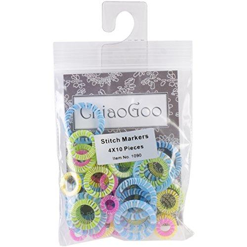 ChiaoGoo Stitch Markers, Set of 40 (1090)