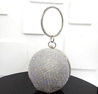 kotiger Lady Frauen Runde Form Diamant Clutch Geldbörse Schultertasche Hochzeit Party Geldbörse