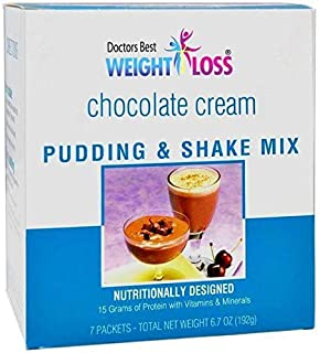 Doctors Best Weight Loss - High Protein Pudding & Shake | Chocolate Cream | Low Calorie, Low Fat, Low Sugar, Low Carb (7/Box)
